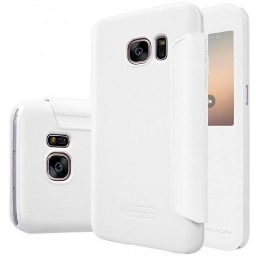 Чехол-книжка Nillkin Sparkle Series для Samsung Galaxy S7 (SM-G930) пластик-полиуретан (белый)для Samsung<br>Чехол-книжка Nillkin Sparkle Series для Samsung Galaxy S7 (SM-G930) пластик-полиуретан (белый)<br>