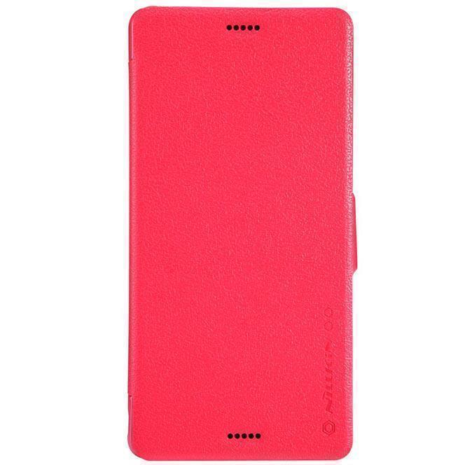 Чехол-книжка Nillkin Fresh Series для Sony Xperia Z3 натуральная кожа красныйдля Sony<br>Чехол-книжка Nillkin Fresh Series для Sony Xperia Z3 натуральная кожа красный<br>