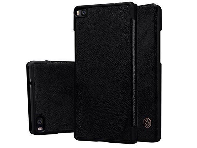Чехол-книжка Nillkin QIN Leather Case для Huawei P8 натуральная кожа (черный)для Huawei<br>Чехол-книжка Nillkin QIN Leather Case для Huawei P8 натуральная кожа (черный)<br>