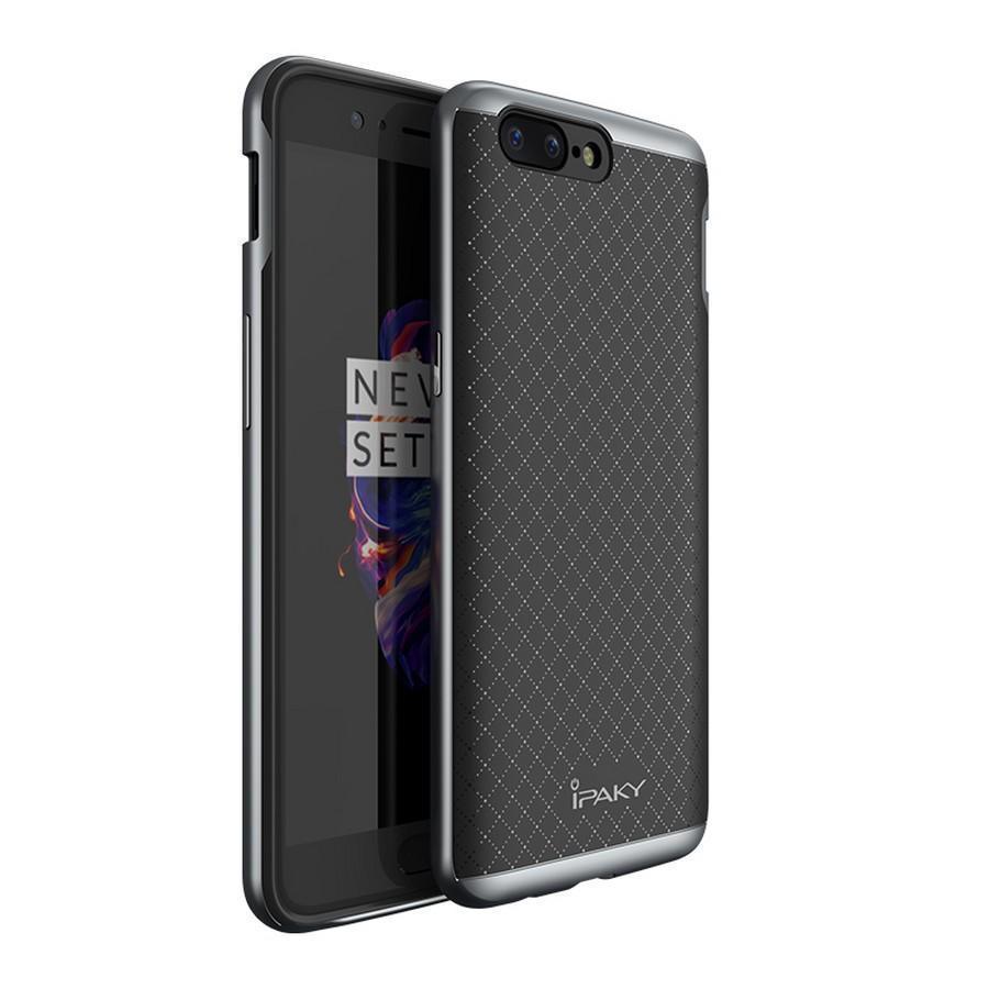 Купить Чехол-накладка iPaky для Xiaomi Redmi 5 силиконовый со вставкой металлик (черный/серый)
