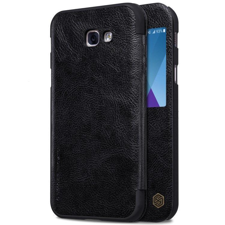 Чехол-книжка Nillkin QIN Leather Case для Samsung Galaxy A5 (2017) SM-A520F натуральная кожа черныйдля Samsung<br>Чехол-книжка Nillkin QIN Leather Case для Samsung Galaxy A5 (2017) SM-A520F натуральная кожа черный<br>