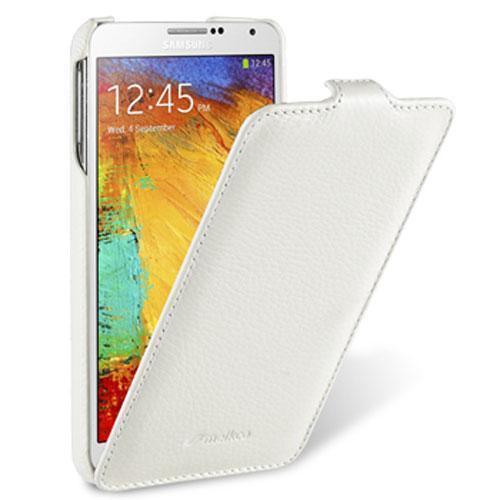 Чехол-книжка Melkco для Samsung Galaxy Note 3 натуральная кожа белый