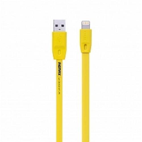 Кабель Remax Full Speed (USB) на (Lightning) 200см желтый(Apple lightning) кабели, переходники, адаптеры<br>Кабель Remax Full Speed (USB) на (Lightning) 200см желтый<br>