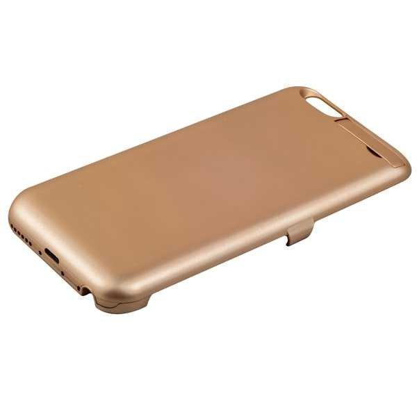Чехол-аккумулятор (model X1) 3000 mAh для Apple iPhone 6/6S пластик gold