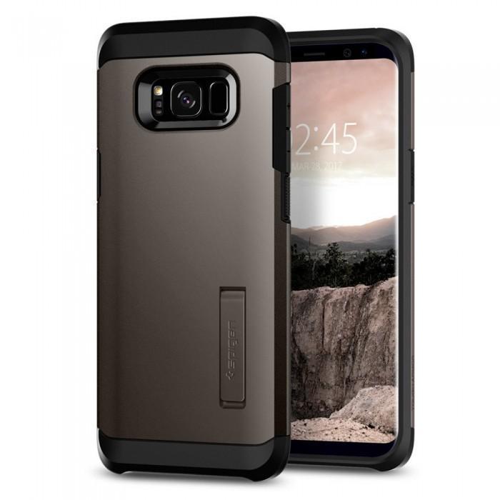 Чехол-накладка Spigen Tough Armor для Samsung Galaxy S8 (SGP 565CS21641) Темно-серыйдля Samsung<br>Чехол-накладка Spigen Tough Armor для Samsung Galaxy S8 (SGP 565CS21641) Темно-серый<br>