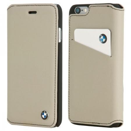 Чехол-книжка BMW Booklype Case (BMFLBKP6CLT) для Apple iPhone 6/6S натуральная кожа серыйдля iPhone 6/6S<br>Чехол-книжка BMW Booklype Case (BMFLBKP6CLT) для Apple iPhone 6/6S натуральная кожа серый<br>