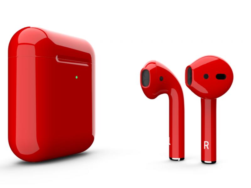 Беспроводная гарнитура Apple AirPods 2 (Gloss Red)