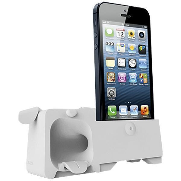 Подставка Аудиоусилитель Ozaki OM936GB O!Music Zoo Dog для Apple iPhone SE/5S/5 резиновая (white) фото