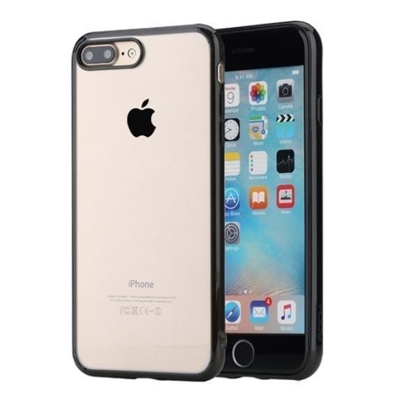 Купить со скидкой Чехол-накладка Rock Pure Series для Apple iPhone 7 Plus/8 Plus пластик-силикон прозрачно-черный
