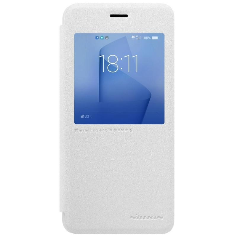 Чехол-книжка Nillkin Sparkle Series для Huawei Honor 8 пластик-полиуретан (белый)для Huawei<br>Чехол-книжка Nillkin Sparkle Series для Huawei Honor 8 пластик-полиуретан (белый)<br>