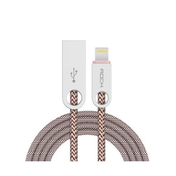 Кабель Rock Cobblestone Round Cable (RCB0440) с (USB) на (Type-C) 100см Cream
