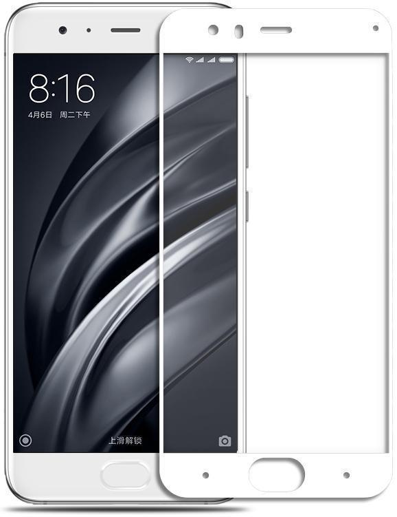 Защитное стекло Glass PRO (Full) Screen для Xiaomi Mi6 цветное белая рамка