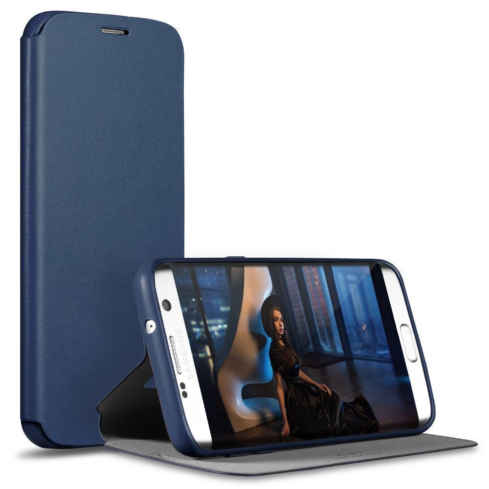 Чехол-книжка Pipilu FIBcolor X-Level для Samsung Galaxy Alpha G850F искусственная кожа (темно-синий) фото
