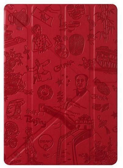 Чехол-книжка Ozaki O!coat Travel Beijing для Apple iPad Air / (2017) полиуретан с подставкой красныйдля Apple iPad Air<br>Чехол-книжка Ozaki O!coat Travel Beijing для Apple iPad Air / (2017) полиуретан с подставкой красный<br>