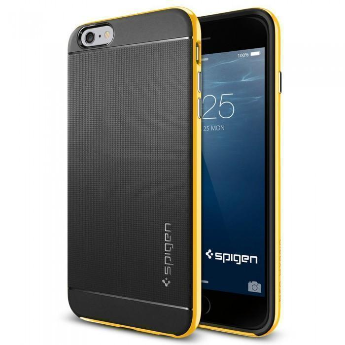 Чехол-накладка Spigen Neo Hybrid для Apple iPhone 6 Plus/6S Plus Reventon Yellow (SGP11067)для iPhone 6 Plus/6S Plus<br>Чехол-накладка Spigen Neo Hybrid для Apple iPhone 6 Plus/6S Plus Reventon Yellow (SGP11067)<br>