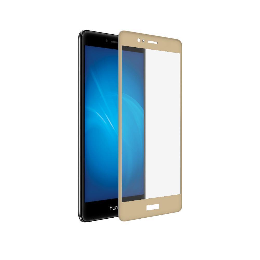 Защитное стекло Glass PRO (Full) Screen для Huawei Honor 8 цветное золотая рамка