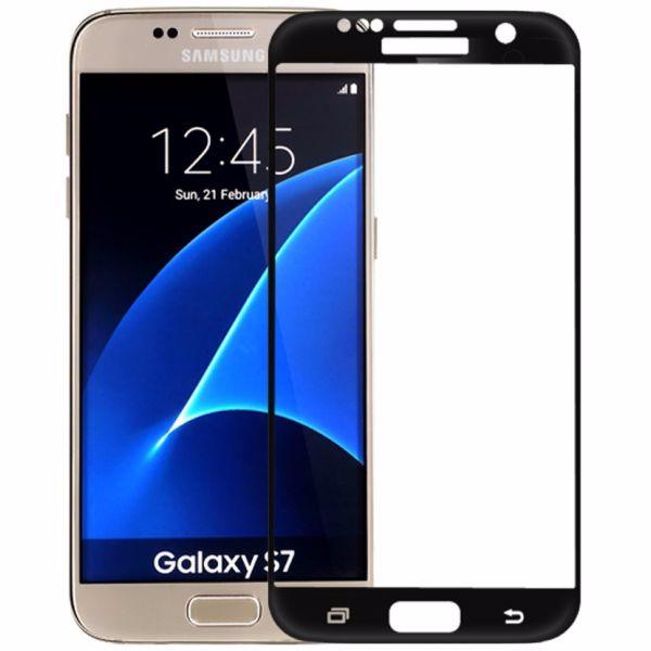 Защитное стекло Glass PRO (Full) Screen для Samsung Galaxy S7 (SM-G930) цветное черная рамка