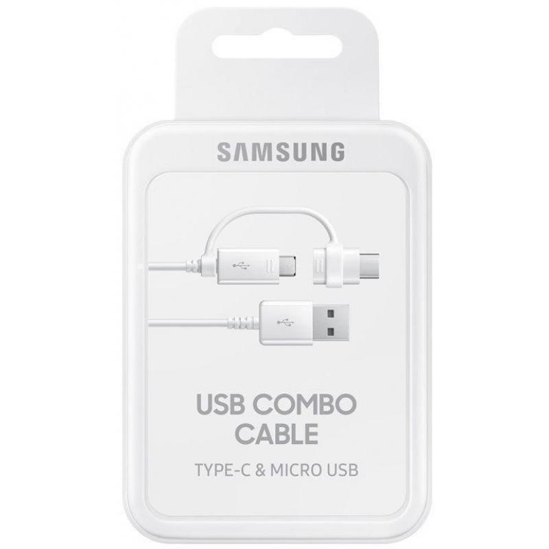 Кабель Samsung (USB) на  (microUSB/USB Type-C) 150см Белый (EP-DG930DWEGRU)(micro USB) кабели, переходники, адаптеры<br>Кабель Samsung (USB) на  (microUSB/USB Type-C) 150см Белый (EP-DG930DWEGRU)<br>