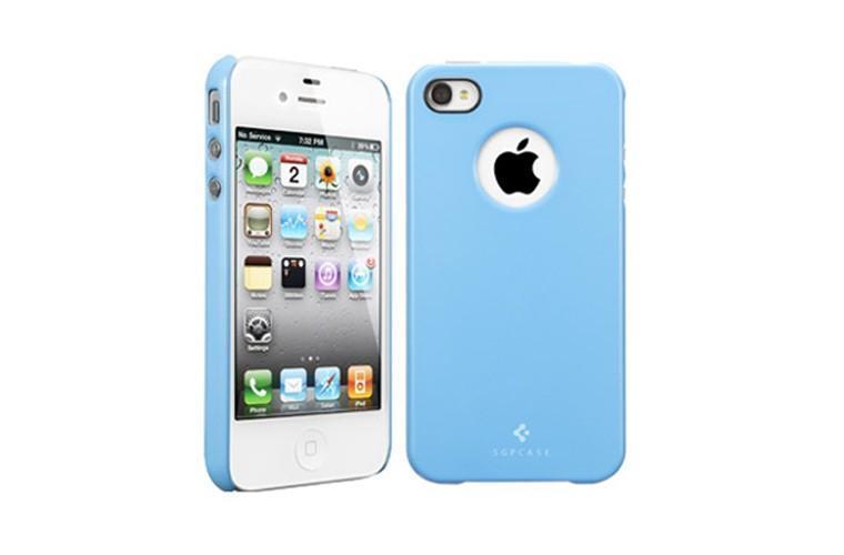 Чехол-накладка Spigen Ultra Thin Air SGP08383 для Apple iPhone 4/4S пластиковый голубойдля iPhone 4/4S<br>Чехол-накладка Spigen Ultra Thin Air SGP08383 для Apple iPhone 4/4S пластиковый голубой<br>