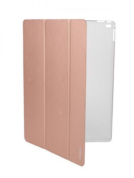 Чехол-книжка Rock Touch Series для Apple iPad Pro 12.9 (пластик полиуретан с подставкой) rose gold