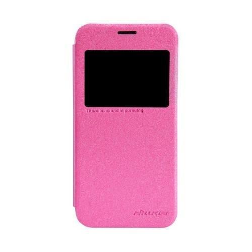 Чехол-книжка Nillkin Sparkle Series для Samsung Galaxy S5 (SM-G900) пластик-полиуретан (розовый)для Samsung<br>Чехол-книжка Nillkin Sparkle Series для Samsung Galaxy S5 (SM-G900) пластик-полиуретан (розовый)<br>