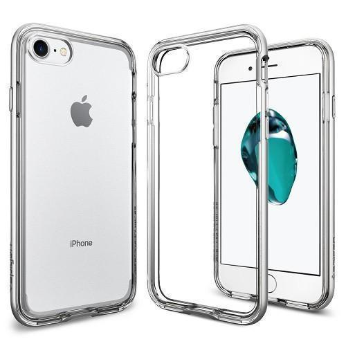 Чехол-накладка Spigen Neo Hybrid Crystal для Apple iPhone 7/8 Satin Silver (042CS20676)для iPhone 7/8<br>Чехол-накладка Spigen Neo Hybrid Crystal для Apple iPhone 7/8 Satin Silver (042CS20676)<br>