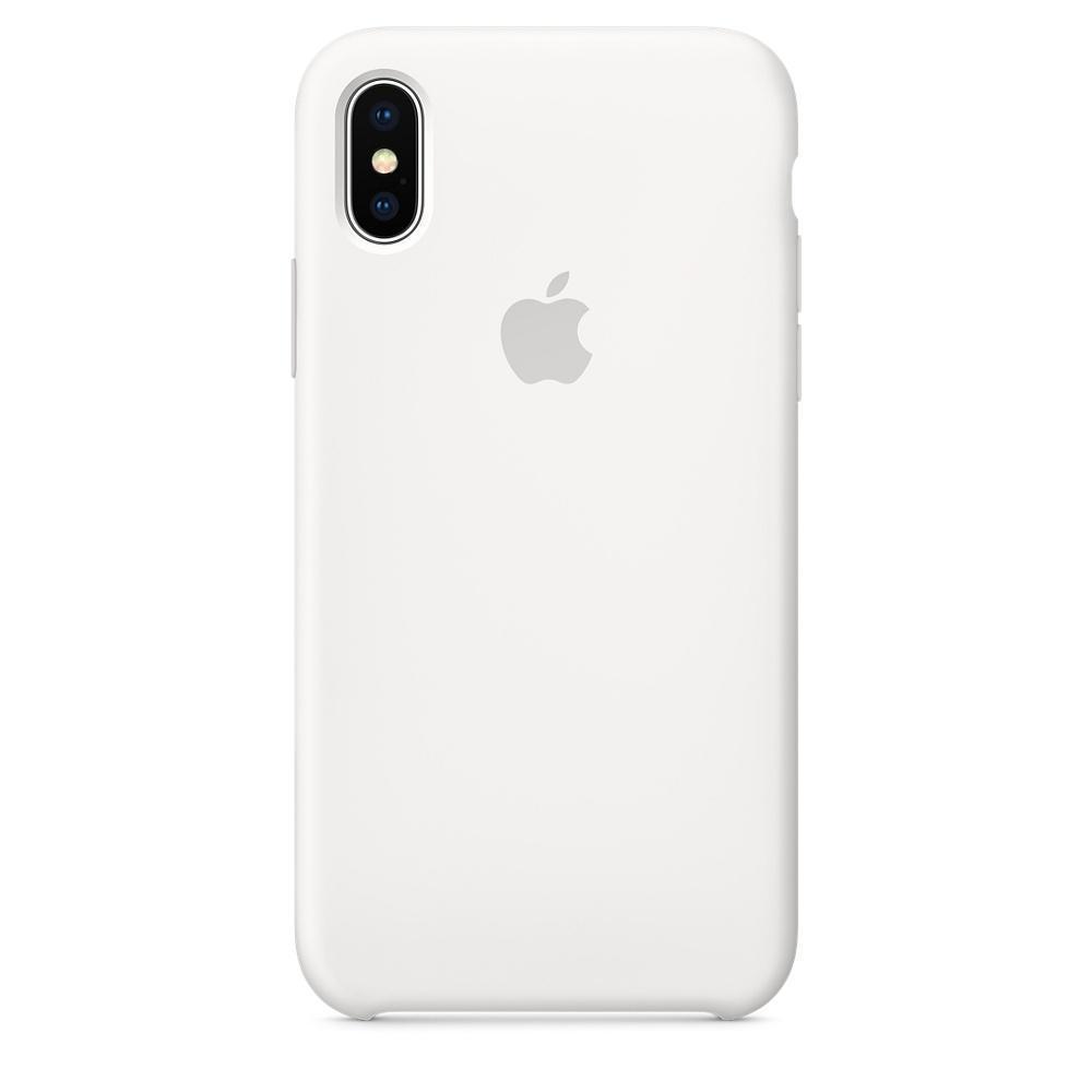 Купить Чехол-накладка Apple Silicone Case Series для iPhone X (10) силикон White (MQT22ZM/A)