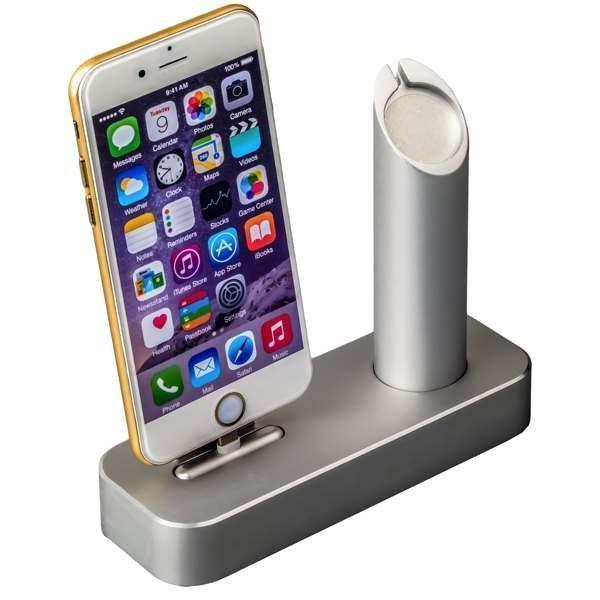 Док-станция COTEetCI Base1 Charging Cradle для Apple Watch &amp; iPhone CS2045-TS SilverДок-станции<br>Док-станция COTEetCI Base1 Charging Cradle для Apple Watch &amp; iPhone stand CS2045-TS Silver<br>