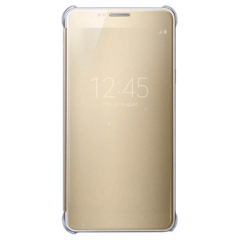 Чехол-книжка Samsung Clear View Cover для Galaxy Note 5 поликарбонат,полиуретан золотой ZN920CFEGRUдля Samsung<br>Чехол-книжка Samsung Clear View Cover для Galaxy Note 5 поликарбонат,полиуретан золотой ZN920CFEGRU<br>