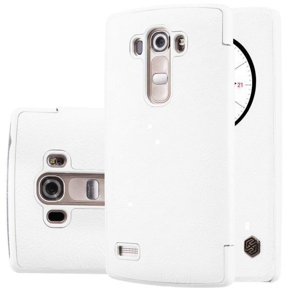Чехол-книжка Nillkin QIN Leather Case для LG G4s (H736 / H734) натуральная кожа (белый)для LG<br>Чехол-книжка Nillkin QIN Leather Case для LG G4s (H736 / H734) натуральная кожа (белый)<br>