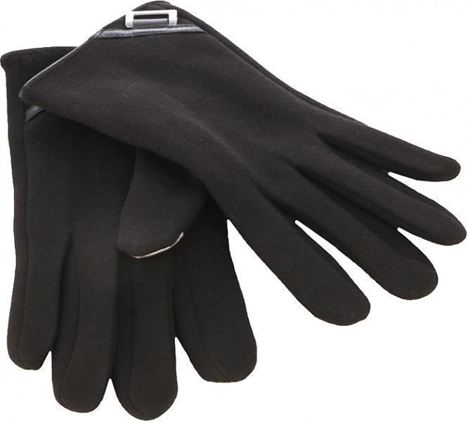 Перчатки для смартфона iCasemore кашемировые с декором черныеПерчатки для смартфона<br>Перчатки для смартфона iCasemore кашемировые с декором черные<br>