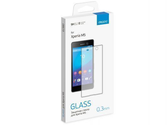 Защитное стекло Deppa для Sony Xperia M5 / M5 Dual (E5603/E5633)для Sony<br>Защитное стекло Deppa для Sony Xperia M5 / M5 Dual (E5603/E5633)<br>