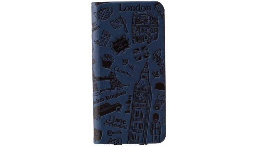 Чехол-книжка Ozaki O!coat Travel London для Apple iPhone 6 Plus/6S Plus натуральная кожа темно синийдля iPhone 6 Plus/6S Plus<br>Чехол-книжка Ozaki O!coat Travel London для Apple iPhone 6 Plus/6S Plus натуральная кожа темно синий<br>