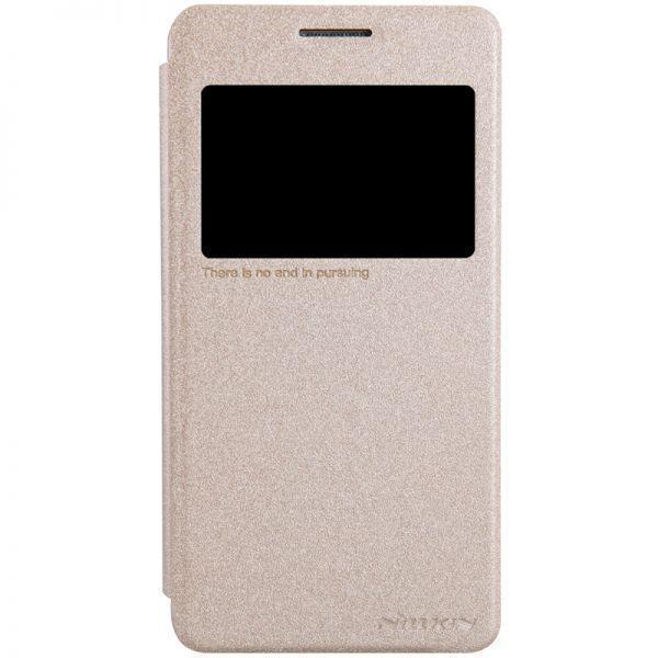 Чехол-книжка Nillkin Sparkle Series для Samsung Galaxy E7 SM-E700 пластик-полиуретан золотойдля Samsung<br>Чехол-книжка Nillkin Sparkle Series для Samsung Galaxy E7 SM-E700 пластик-полиуретан золотой<br>