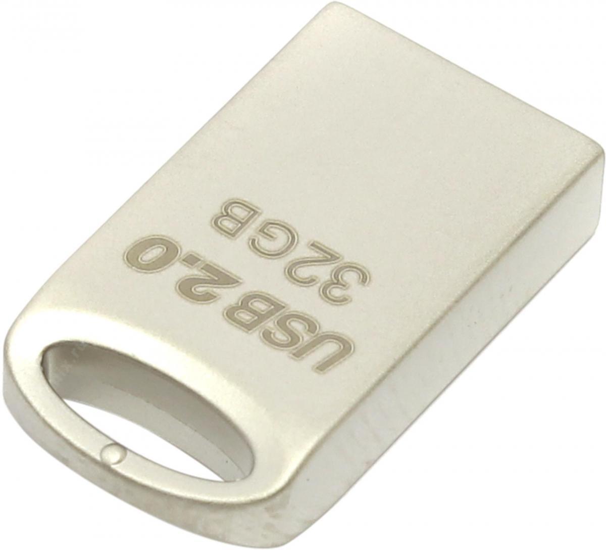 USB 2.0 флэш-диск 32Gb Transcend JetFlash 510S (TS32GJF510S) серебристый