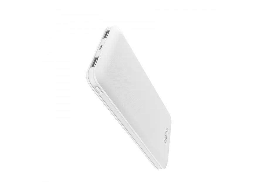 Купить Универсальный внешний аккумулятор HOCO J26 10000 mAh USBx2 2.1A/ micro USB / пластик (белый)