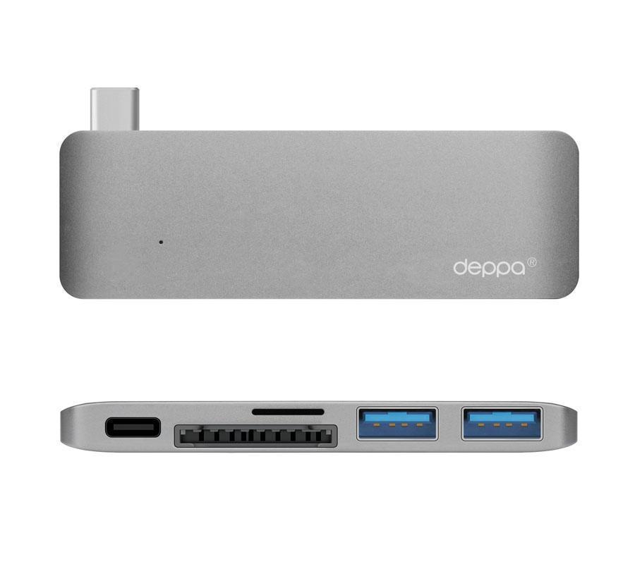 Адаптер Deppa USB-Type C для Macbook 5 в 1 графит (72217)