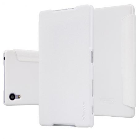 Чехол-книжка Nillkin Sparkle Series для Sony Xperia Z5 / Z5 Dual пластик-полиуретан (белый)