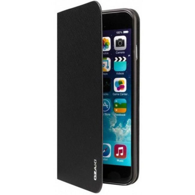 Чехол-книжка Ozaki O!coat 0.4+Folio case для iPhone 6/6S искусственная кожа Black (OC581BK)для iPhone 6/6S<br>Чехол-книжка Ozaki O!coat 0.4+Folio case для iPhone 6/6S искусственная кожа Black (OC581BK)<br>
