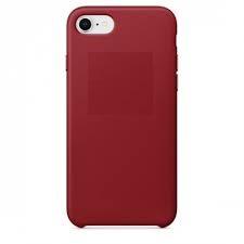 Купить Чехол-накладка under Leather Case для Apple iPhone 7/8 натуральная кожа красный