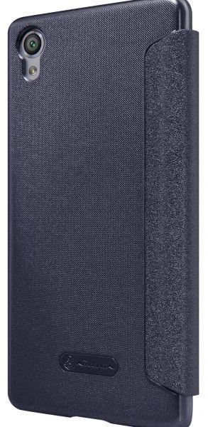 Чехол-книжка Nillkin Sparkle Series для Sony Xperia X / X Dual пластик-полиуретан (черный)