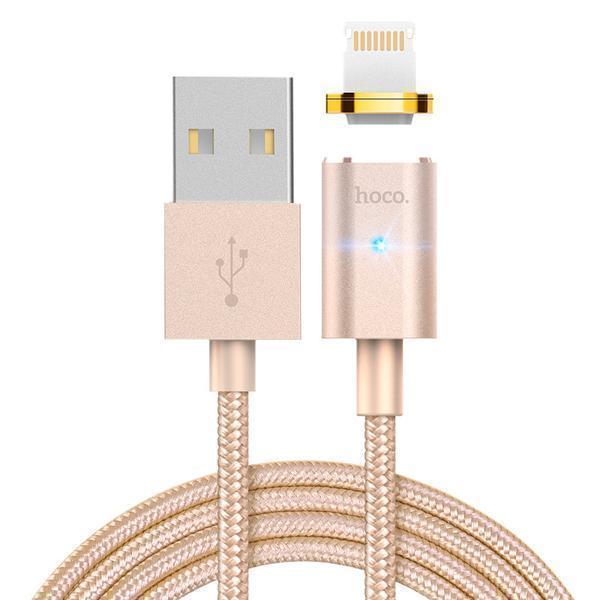 Кабель Hoco U16 магнитный  (USB) на (Lightning) 120см золотой(Apple lightning) кабели, переходники, адаптеры<br>Кабель Hoco U16 магнитный  (USB) на (Lightning) 120см золотой<br>