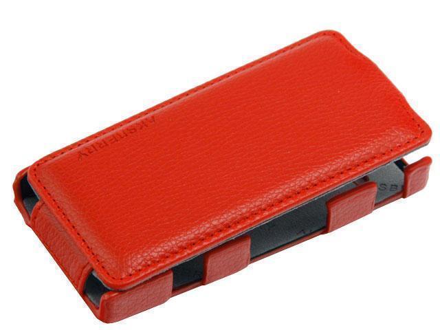 Чехол-книжка Melkco Leather Case для Sony Xperia U ST25i натуральная кожа красныйдля Sony<br>Чехол-книжка Melkco Leather Case для Sony Xperia U ST25i натуральная кожа красный<br>