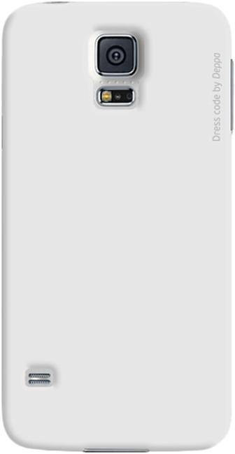 Чехол-накладка Deppa Air Case для Samsung Galaxy S5 (SM-G900) пластик белый + защитная пленкадля Samsung<br>Чехол-накладка Deppa Air Case для Samsung Galaxy S5 (SM-G900) пластик белый + защитная пленка<br>