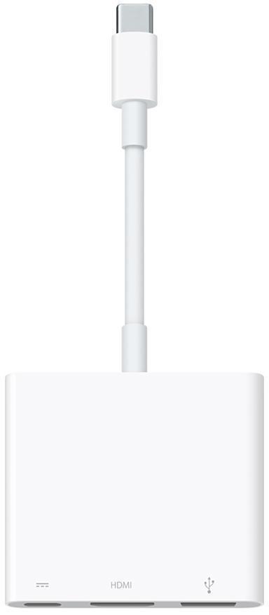 Адаптер Apple USB-C Digital AV Multiport (MJ1K2ZM/A) белый(Apple lightning) кабели, переходники, адаптеры<br>Адаптер Apple USB-C Digital AV Multiport (MJ1K2ZM/A) белый<br>