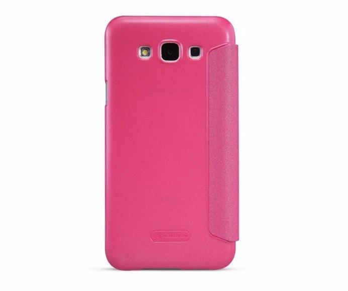 Чехол-книжка Nillkin Sparkle Series для Samsung Galaxy E5 SM-E500 пластик-полиуретан розовый