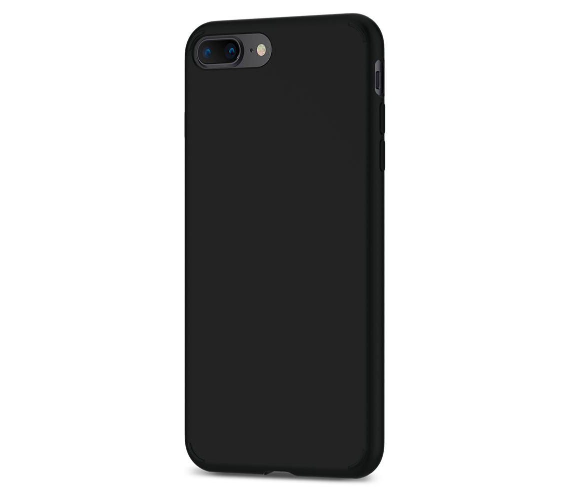 Чехол-накладка Spigen Liquid Crystal для Apple iPhone 7 Plus/8 Plus Matte Black (SGP 055CS22234)для iPhone 7 Plus/8 Plus<br>Чехол-накладка Spigen Liquid Crystal для Apple iPhone 7 Plus/8 Plus Matte Black (SGP 055CS22234)<br>