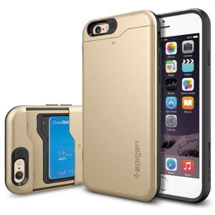 Чехол-накладка Spigen Slim Armor CS для Apple iPhone 6/6S пластик-резина Champagne Gold (SGP10967)для iPhone 6/6S<br>Чехол-накладка Spigen Slim Armor CS для Apple iPhone 6/6S пластик-резина Champagne Gold (SGP10967)<br>