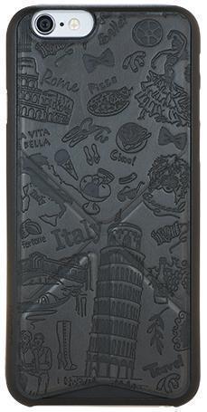 Чехол-накладка Ozaki O!coat Travel Rome для Apple iPhone 6/6S искусственная кожа черныйдля iPhone 6/6S<br>Чехол-накладка Ozaki O!coat Travel Rome для Apple iPhone 6/6S искусственная кожа черный<br>