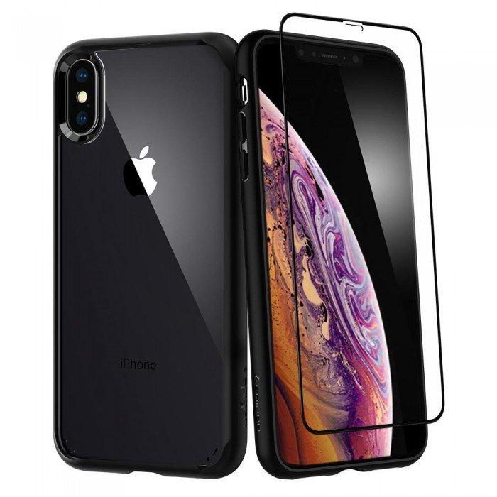 Купить Чехол-накладка Spigen Ultra Hybrid для Apple iPhone Xs Max (Черный) SGP 065CS25132